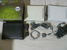 XBOX 360 SYSTEM CONSOLE LOT OF 3 ELITE BLACK WHITE FOR PARTS ONLY NON WORKING