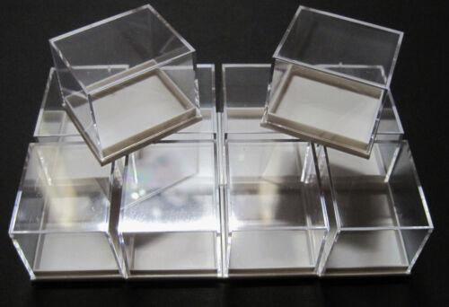 10 Stück 41x35x32 mm Dosen für Mineralien Sammelkasten Mineraliendosen Sammlung