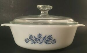 Anchor-hocking-blue-flower-white-1-Quart-casserole-dish-with-lid-436
