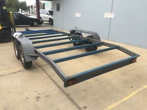 BRAND-NEW-Flat-bed-Beaver-Car-Trailer-CHASSIS-Tandem-axle-16FT-NO-RAMPS-OR-PAINT