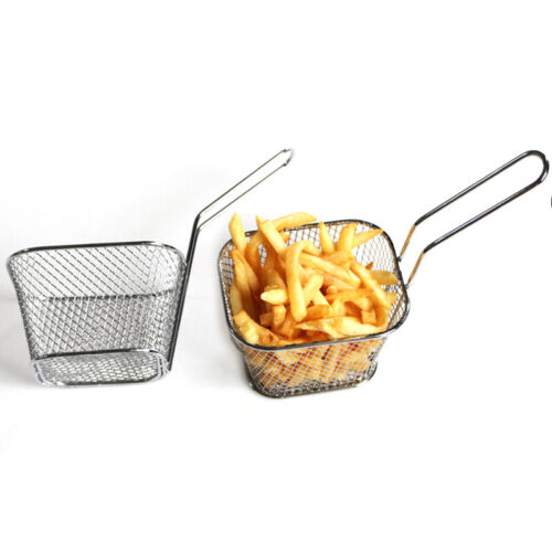 Deep Fry Basket Stainless Steel Strainer Cooking Tool for Chips French Fries