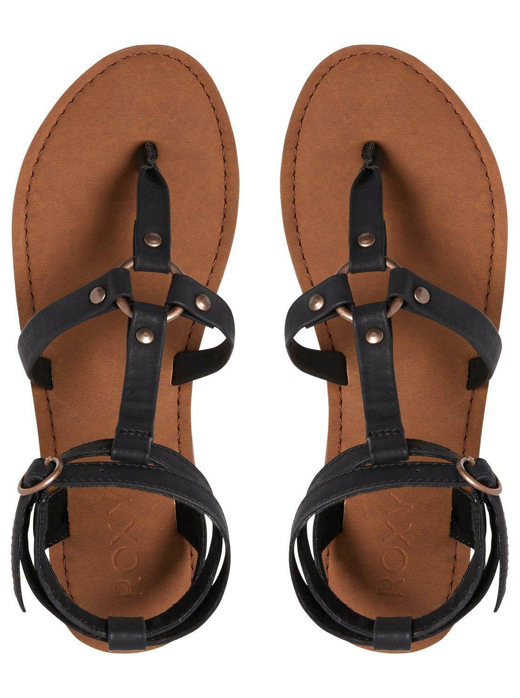 Roxy Femme Sandales. Soria Noir Gladiateur à Lanières Chaussures en cuir synthétique 8 S 622 BLK
