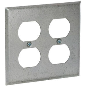 Raco 873 Double Duplex Receptacle Wallplate Cover 4 1 4 Raised