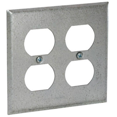 RACO INCORPORATED 791 4 Square Box Cover 2 Devices Flat