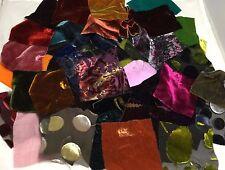 Silk Fabric Sample Set Squares Lot #2 SILK VELVET 50 pcs
