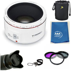 Details about Yongnuo YN50MM F1 8 II Standard Prime Lens White for Canon  SL2 80D T6S T7I 50mm