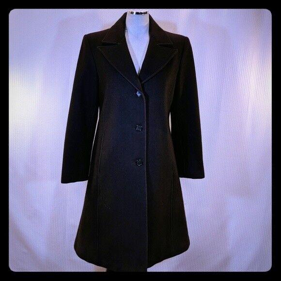 MDP Mario De Pinto TRENCH Wool COAT Brown S