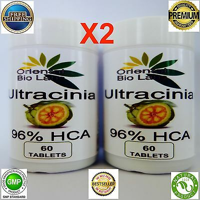 2 X 60 STRONGEST REAL GARCINIA CAMBOGIA MAX HCA 96% Weight Loss Diet pill