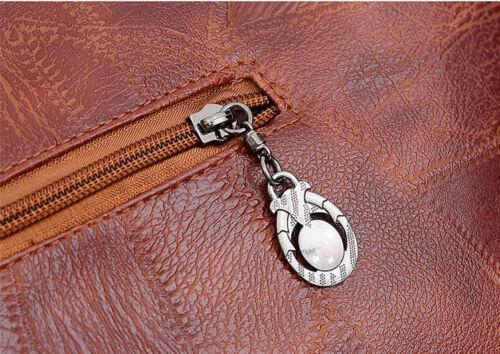 Damen Große Schultertasche Leder Umhängetasche Fashion Shopper Kurierrucksack