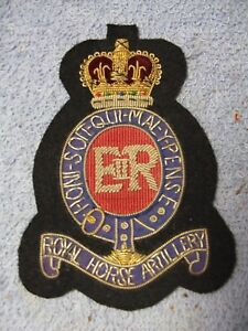 The Royal Horse Artillery Embroidered Badge