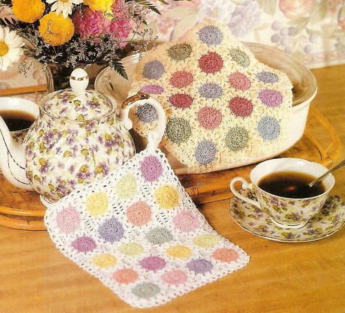 PRETTY Scrap Thread Potholder//Decor//Crochet Pattern INSTRUCTIONS ONLY