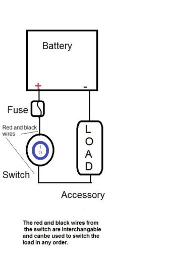 """Twin LED Rocker Switches SPST Waterproof 12V Motorcycle Handlebar Mount to 1/"""""""