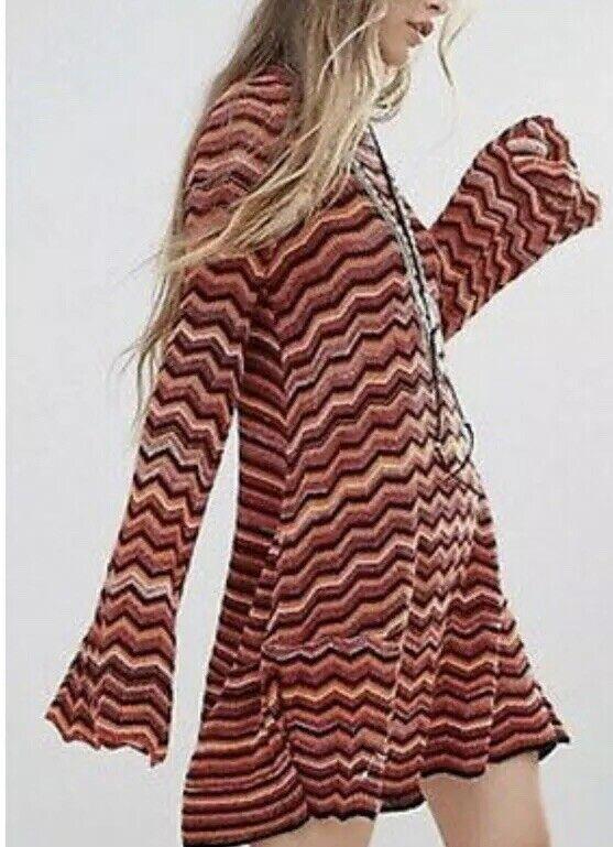 Free people Zigzag Knit Dress M