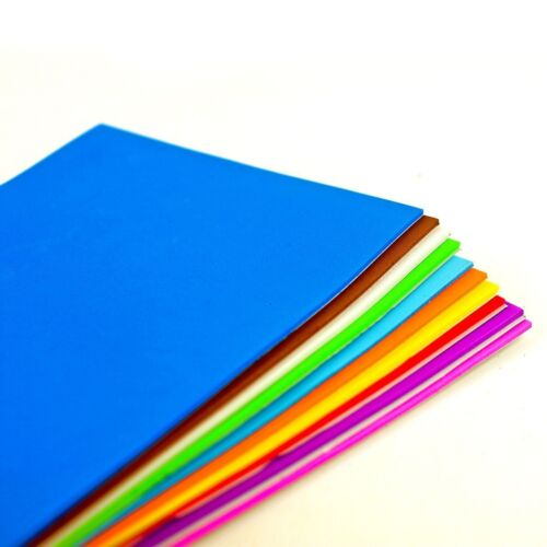 A5 Plain//Glitter Foam Sheets Self Adhesive For Crafts and Card Making 20 Pack