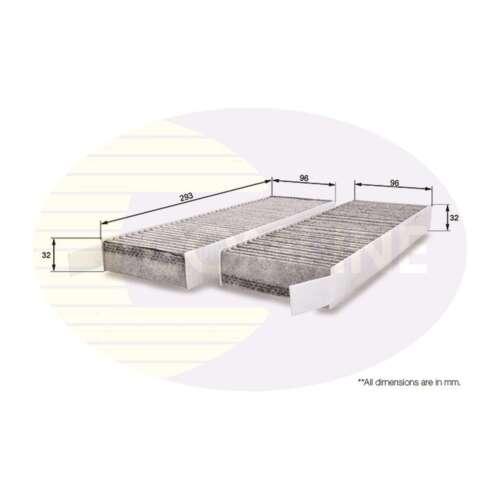 Si adatta Citroen Berlingo Originali Comline Carbone Attivo CABINA filtro antipolline