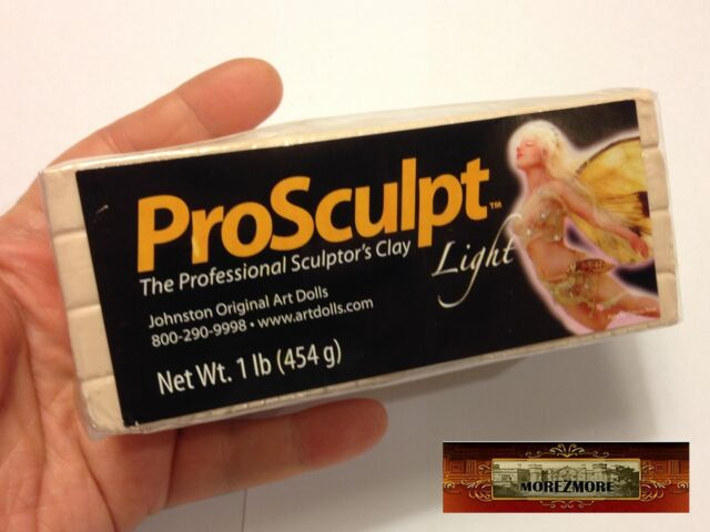 M00149 MOREZMORE 1 lb Prosculpt LIGHT FAIRY FLESH Doll Sculp Polymer Clay