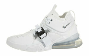 f57ef0fed1d NIKE AIR FORCE 270 MEN S SHOES SIZE 12 WHITE METALLIC SILVER AH6772 ...