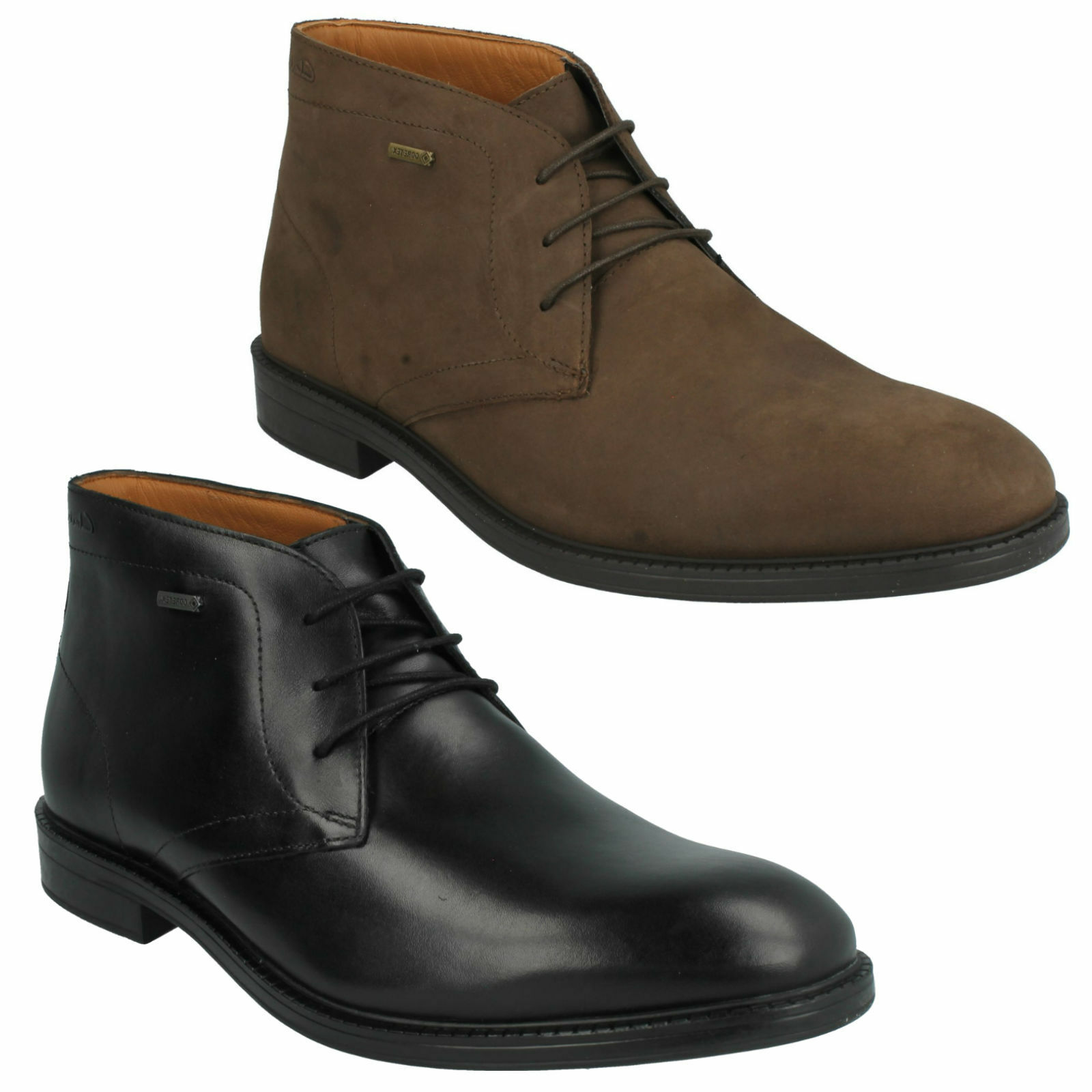 CHILVER HI GTX Hombre CLARKS WATERPROOF ANKLE LACE UP LEATHER FORMAL ANKLE WATERPROOF DESERT botas a268a1