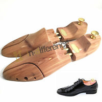 Men Shoe Tree Red Cedar Scent Wood Stretcher Adjustable Us Sizes 8-9 Shoes