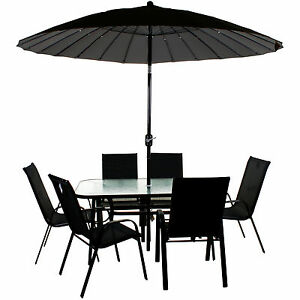 Garden Furniture Set Patio Outdoor Large Seating Dining Area Chair