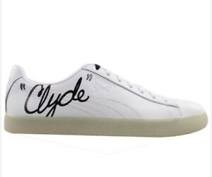 9afba336c2958b Puma Clyde Signature Ice Leather Men s Casual Sneakers White   Black ...