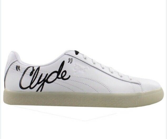 018f2e7a913c5b PUMA Clyde Signature Ice Leather Men s Casual SNEAKERS White   Black Size 7  C for sale online