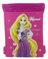 Disney Tangled Rapunzel Hot Pink Theme Park Tote Bag Drawstring School Backpack