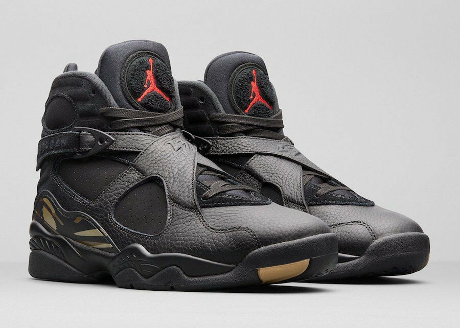 998faf0457 Nike Jordan 8 VIII Retro OVO Black gold Size 14. AA1239-045 Air ...