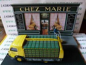Dio3 car + diorama 1/43 ixo: test trades France galleon water carrier coffee
