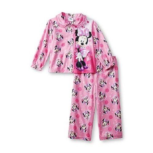NWT Size 3T Minnie Mouse Button Down Pajamas Pj's Jammies NEW