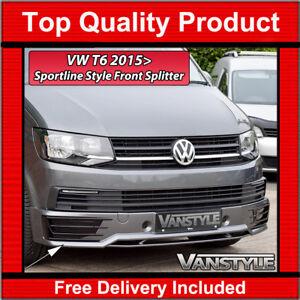 Details about VW T6 TRANSPORTER SPORTLINE FRONT BUMPER SPLITTER SPOILER NOT  CHEAP FIBERGLASS