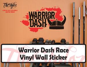 Warrior Dash Race Vinyl Wall Sticker