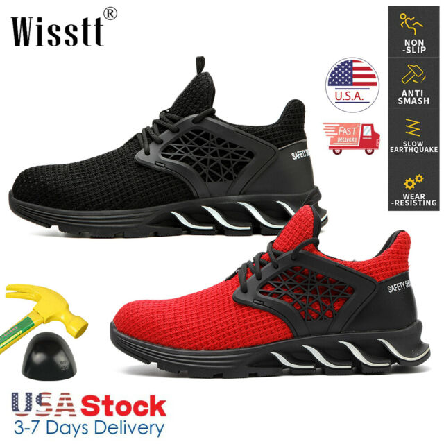 Women/'s Indestructible Safety Steel Toe Work Labor Boots Breathable Hiking Shoes