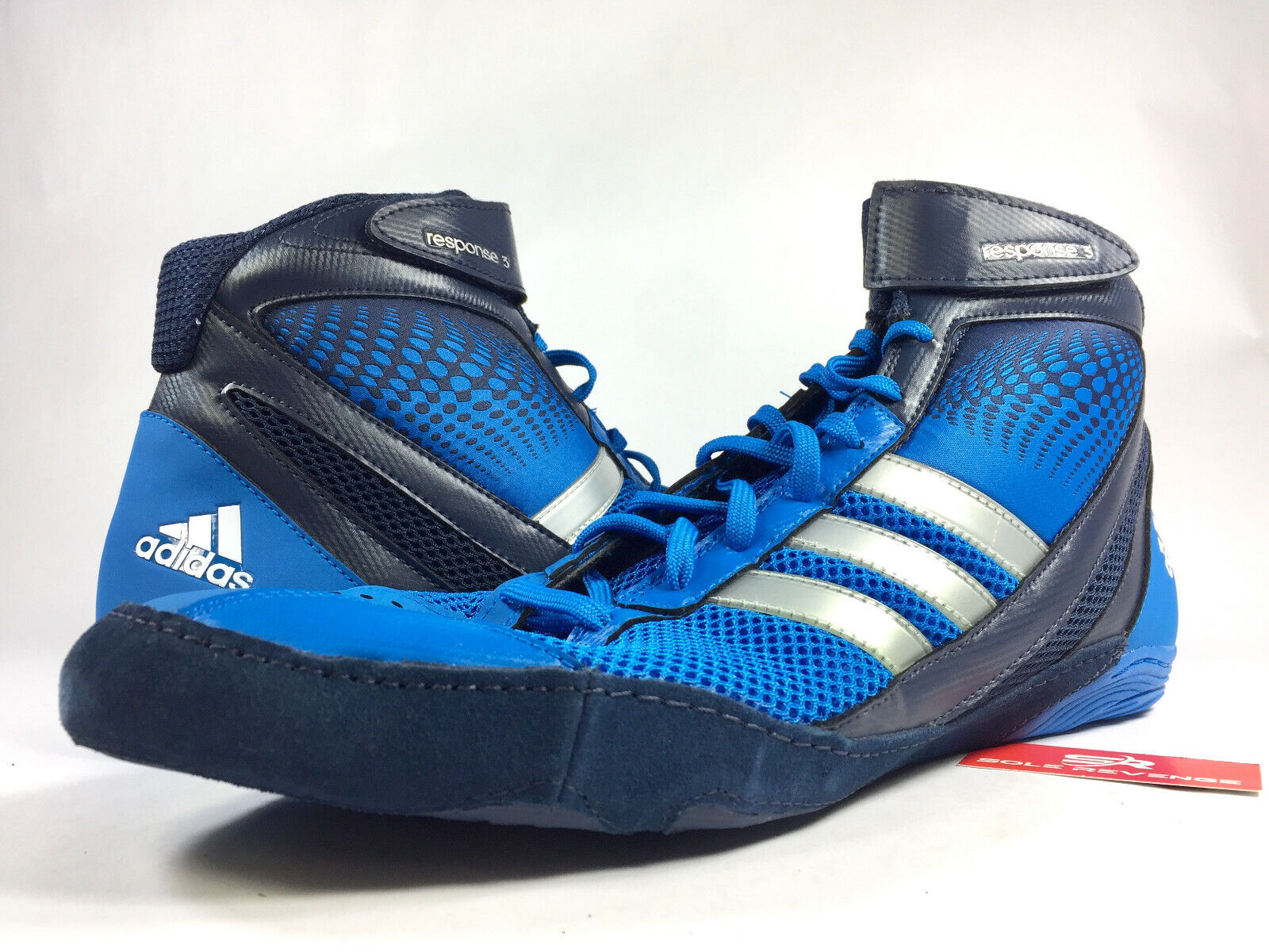 14 New ADIDAS Response 3.1 Mens Wrestling Shoes Blue Navy Sllver Gray G96626 x1