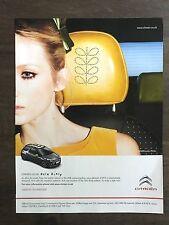 Original  2011 / 2012 UK Vogue Magazine Advert Picture Citroen DS3 Orla Kelly