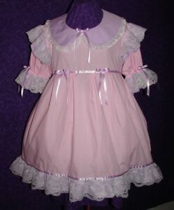 Frilly Pink Adult Baby Sissy Dress Custom Aunt D