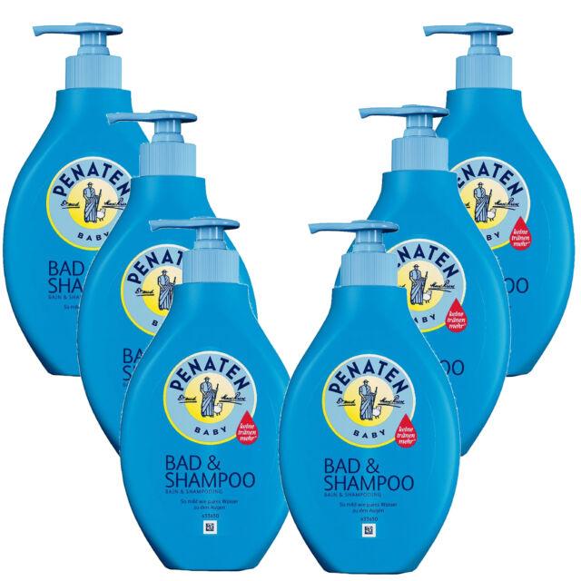 ( 14,58€/ L) 6 X 400ml Penaten Bañera para Bebé & Champú sin Perfume Cuidado No