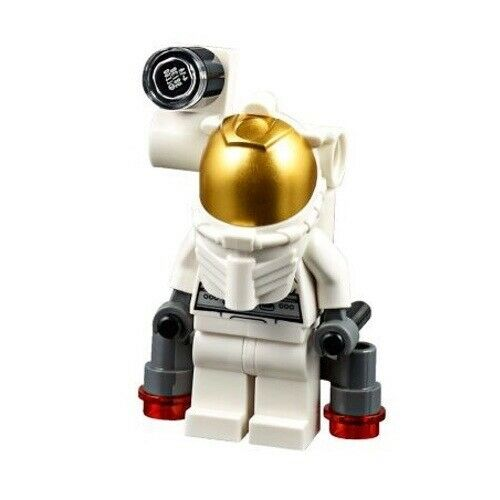 Male with Jet Pack LEGO City MiniFigure: Space Port Set 60077 Astronaut