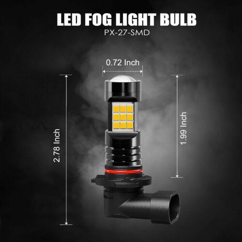 JDM ASTAR 2x 1200LM H10//9145 LED Fog Light Driving Bulbs Lamps Yellow Amber 12V