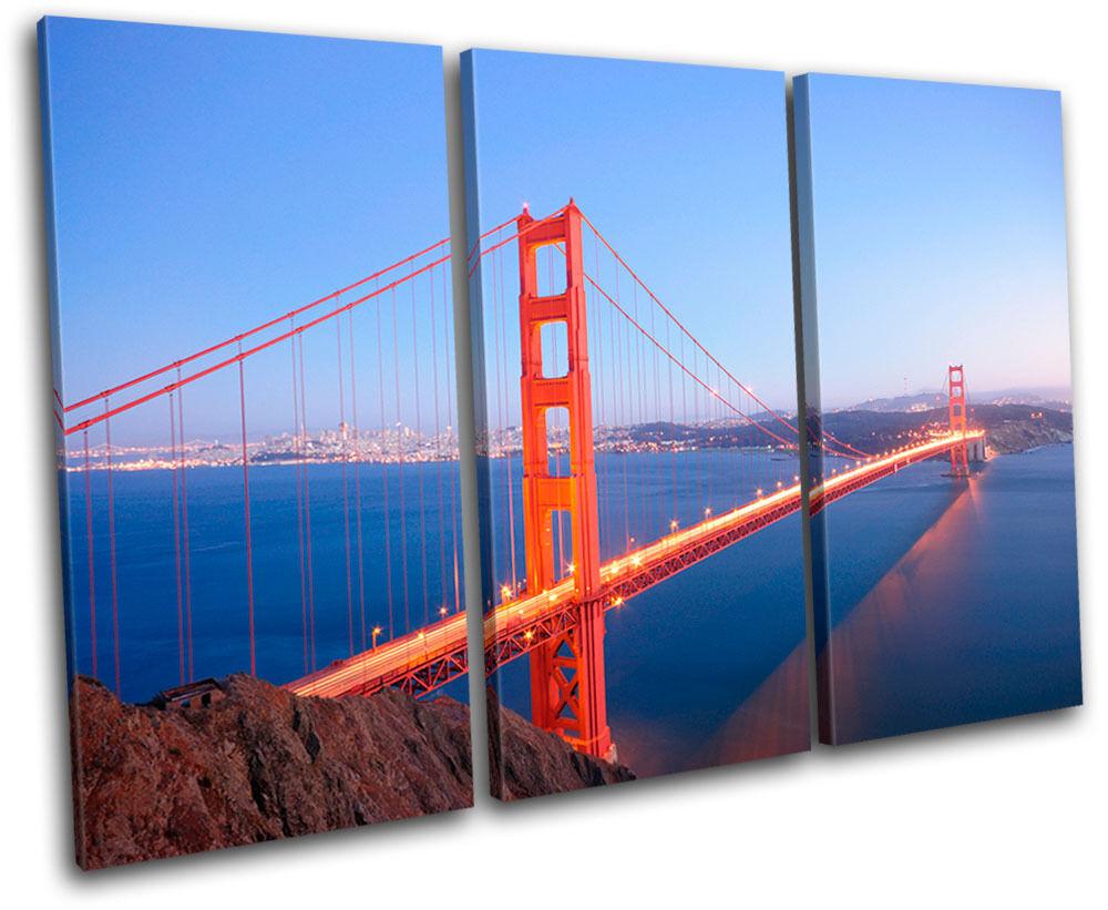Golden Gate Bridge Landmarks LONA TREBLE LONA Landmarks pa rojo  arte Foto impresion 52421c
