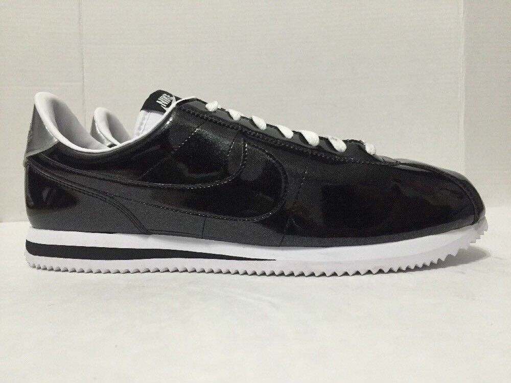 Nike 819721-001 Mens Black Silver Cortez Basic Premium QS Shoes Sz 13