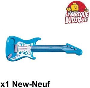 Lego New Dark Azure Minifigure Utensil Guitar Electric Musical Instrument Piece