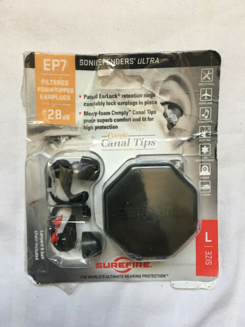 SureFire EP7 Sonic Defenders Ultra Filtered Foam-Tipped Hunting Earplugs SMALL