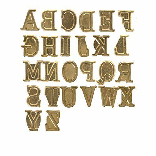 Wood Burning Pyrography Alphabet Letter Symbols Stamps Personalization Set Kit