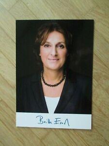 Brandenburg Ministerin SPD Britta Ernst - Autogramm!!! (Gattin Olaf Scholz)