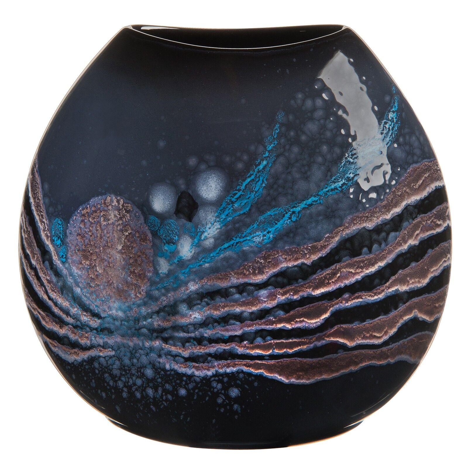 céleste Poterie Céramique Large Porte-monnaie Vase Vase Vase 25.5cm SUPÉRIEURE Qualité EU | Conception Moderne  c9b6d8