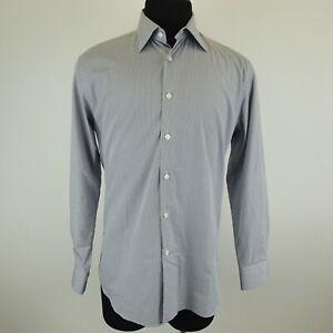 Prada Light Blue Striped Button Down Designer Dress Shirt Size 40-15 3/4