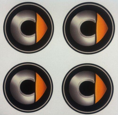 4x 80mm Fit SMART MERCEDES ADESIVI RUOTA CENTRO Badge Centro Trim Cap Hub in Lega