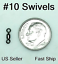 FREE SHIP 40 Premium #10 Leader Small Mini Rolling Swivels Fly Fish or Finesse