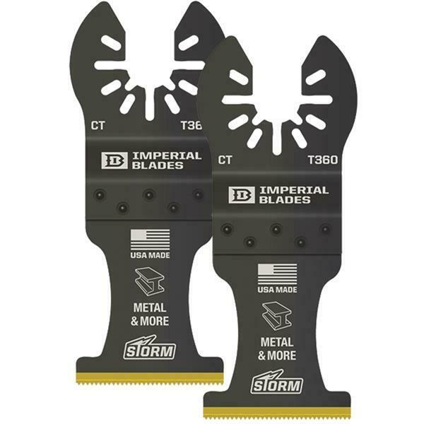 3 pk Imperial Blades ONE FIT 1-3 8 In. 24 TPI Oscillating blade IBOAT360-2